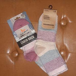 2 Pair cozy cabin socks